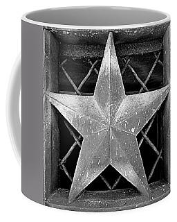 Star - Black And White Coffee Mug by Joseph Skompski
