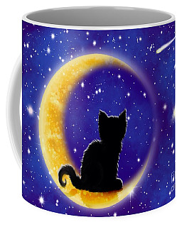 Star Gazing Cat Coffee Mug by Nick Gustafson