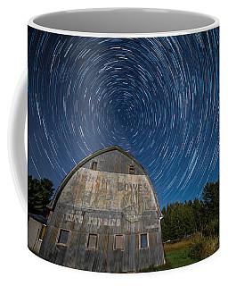 Star Trails Over Barn Coffee Mug by Paul Freidlund