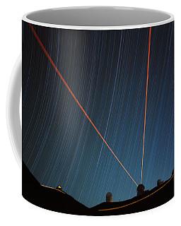 Star Trails Over Mauna Kea Observatory Coffee Mug
