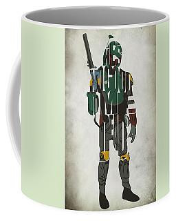 Star Wars Inspired Boba Fett Typography Artwork Coffee Mug by Ayse Deniz