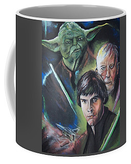 Coffee Mug featuring the pastel Star Wars Medley by Peter Suhocke
