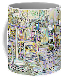 Coffee Mug featuring the digital art Starbucks After Hours by Mark Greenberg