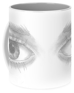 Coffee Mug featuring the drawing Stare by Terry Frederick