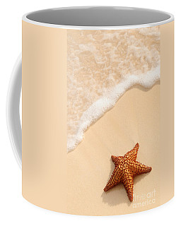 Starfish And Ocean Wave Coffee Mug