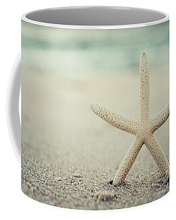 Starfish On Beach Vintage Seaside New Jersey  Coffee Mug