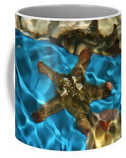 Starfish Under Rippling Water Coffee Mug