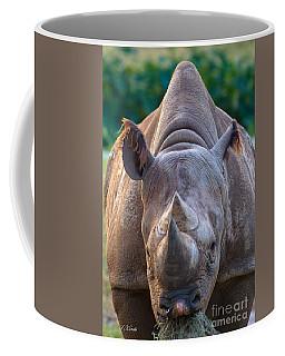 Staring Down Rhino Coffee Mug