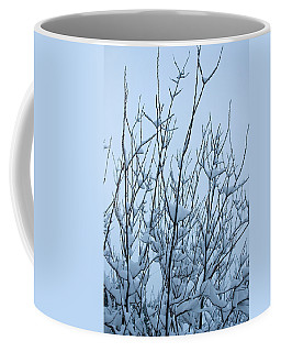 Coffee Mug featuring the photograph Stark Beauty - Snow On Branches by Denise Beverly