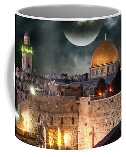 Full Moon At The Dome Of The Rock Coffee Mug
