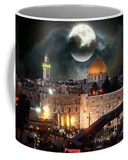 Starry Night At The Dome Of The Rock Coffee Mug by Doc Braham