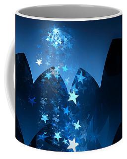 Coffee Mug featuring the digital art Starry Night by GJ Blackman