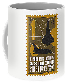 Starschips 01-poststamp - Spaceshuttle Coffee Mug