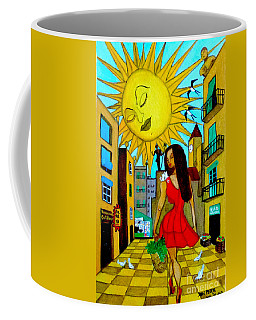 Coffee Mug featuring the painting Starting A New Day by Don Pedro De Gracia