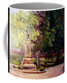 Statue In  Landscape Coffee Mug