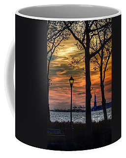 Statue Of Liberty From Battery Park Coffee Mug