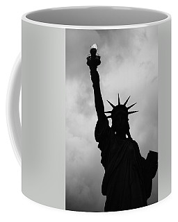 Statue Of Liberty Silhouette Coffee Mug by Dave Beckerman