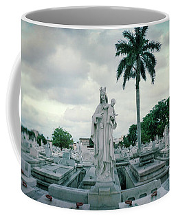 Statues Of Virgin And Child At Colon Coffee Mug