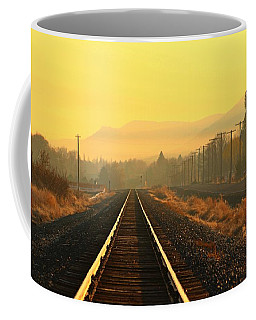 Coffee Mug featuring the photograph Stay On Track by Lynn Hopwood