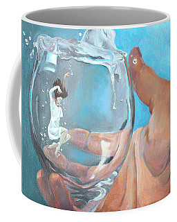 Coffee Mug featuring the painting Staying Afloat by Rachel Hames