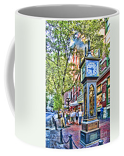 Steam Clock In Vancouver Gastown Coffee Mug by David Smith