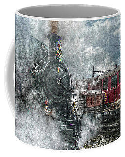 Coffee Mug featuring the photograph Steam Train by Hanny Heim