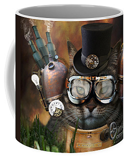 Steampunk Cat Coffee Mug
