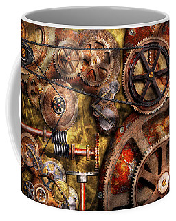 Steampunk - Gears - Inner Workings Coffee Mug by Mike Savad