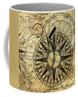 Steampunk Gold Compass Coffee Mug