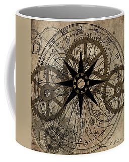 Steampunk Gold Gears II  Coffee Mug by James Christopher Hill