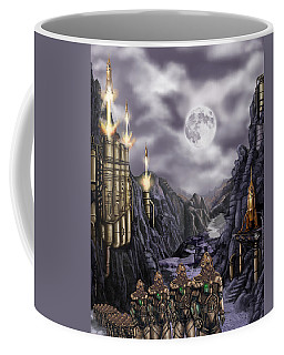Steampunk Moon Invasion Coffee Mug