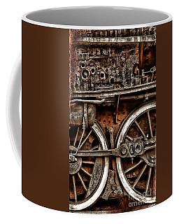 Steampunk- Wheels Locomotive Coffee Mug