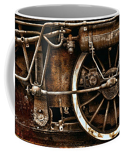 Steampunk- Wheels Of Vintage Steam Train Coffee Mug