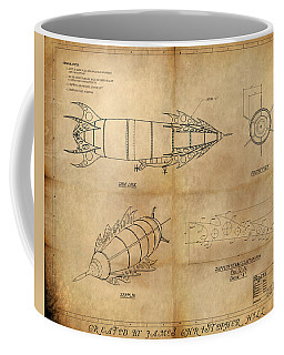 Steampunk Zepplin Coffee Mug by James Christopher Hill