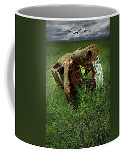 Steel Auto Carcass With Vultures Coffee Mug