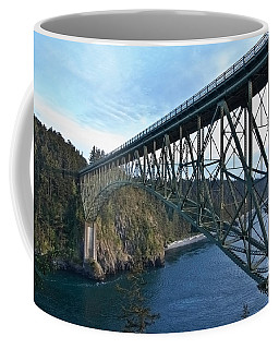 Steel Bridge Deception Pass Wa Art Prints Coffee Mug by Valerie Garner