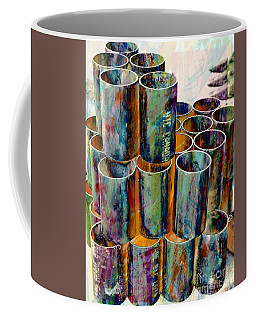 Steel Pipes Coffee Mug by Lilliana Mendez