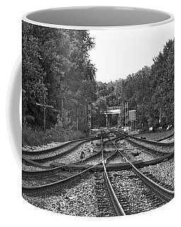 Steel Rail Intersections.   Point Of Rocks Md Coffee Mug