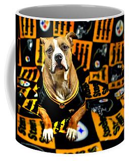 Pitbull Rescue Dog Football Fanatic Coffee Mug