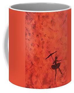 Stencil Ballerina Coffee Mug