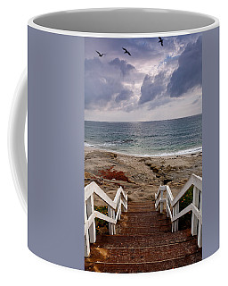 Steps And Pelicans Coffee Mug