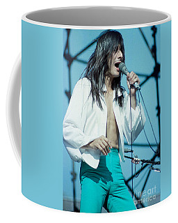 Steve Perry Of Journey At Day On The Green - July 1980 Coffee Mug