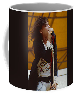 Steven Tyler Of Aerosmith At Monsters Of Rock In Oakland Ca Coffee Mug