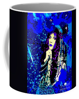 Stevie Nicks In Blue Coffee Mug by Alys Caviness-Gober