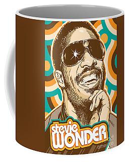 Stevie Wonder Pop Art Coffee Mug by Jim Zahniser