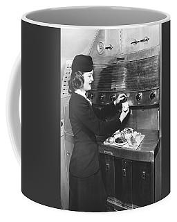 Stewardess Preparing Dinner Coffee Mug