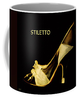 Coffee Mug featuring the painting Stiletto by Jennifer Muller