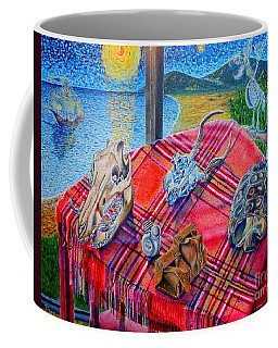 Coffee Mug featuring the painting Still Life And ...pirats by Viktor Lazarev