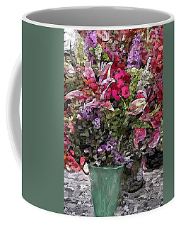 Coffee Mug featuring the digital art Still Life Floral by David Lane
