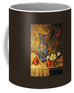 Still Life Of Persimmons  Coffee Mug by Donna Tucker